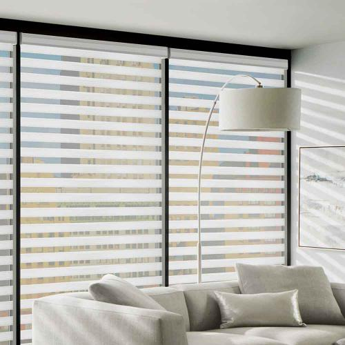 Big Sky Blinds - beautiful entertainment room with blinds